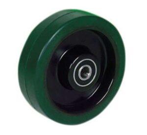Roata cauciuc elastic verde EKR100GR